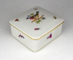 1D827 Rothschild mintás Herendi porcelán bonbonier 1955