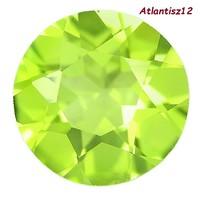 VALÓDI, 100% TERMÉSZETES OLIVE GREEN PERIDOT (OLIVIN) DRÁGAKŐ 1,25ct (IF)! ÉRTÉKE: 43.800,-Ft!!