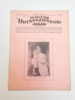 Régi újság 1926 Magyar uriasszonyok lapja