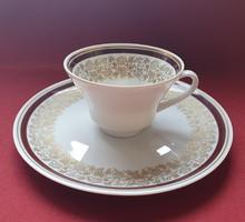 Weimar porcelán reggeliző szett hiányos 2 részes (csésze, kistányér)