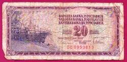 * Külföldi pénzek:  Jugoszlávia  1976  20 dinár