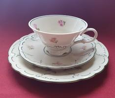 CA Uhlstädt porcelán reggeliző szett 3 részes (csésze, csészealj, kistányér)