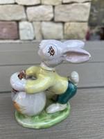 Izsépy Margit porcelán mázas nyúl