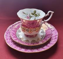 Chodziez lengyel porcelán reggeliző szett 3 részes (csésze, csészealj, kistányér)