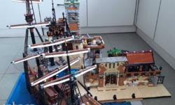 Lego MOC egyedi építés dioráma Pirates téma hajó nélkül