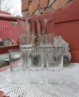 5 db retro 3 dl-es pohár poharak nosztalgia darabok ,egyben eladòk