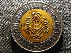 Olaszország 100 éves az olasz bank 500 Líra 1993 R (id27418)