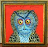 Galambos Tamás - Sárga Bubo 50x50 cm