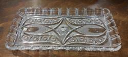 Gyönyörű ólomkristály tálca - 18 x 35 cm