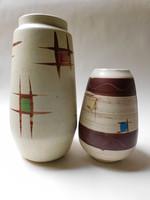 Bay Keramik retro vázacsalád geometrikus mintával