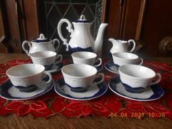 Zsolnay Pompadour alapmázas kávés készlet