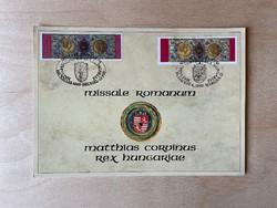 Missale Romanum Matthias Corvinus Rex Hungariae 1993 - emléklap