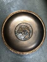 Eladó halas bronz fali tál - M399