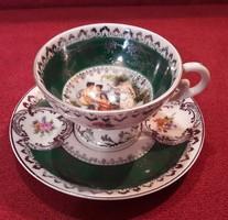Jelenetes, életképes porcelán csésze 1.
