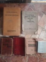 """Kulönféle mini szótárak, """"liliputi kiadvanyok"""" háboru elotti kiadványok, regi tankönyvek"""