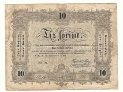 1848 as 10 forint Kossuth bankó papírpénz bankjegy 1848 szabadságharc pénzecske csinoska