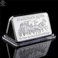 Stagecoach silver 999 külföldi  emléktömb kapszulában
