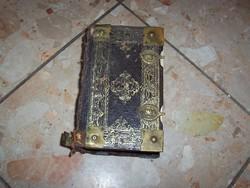 Réz veretes címeres -Cithara sanctorum 1896 Lévay Pál könyvkötő mesterműve