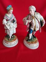Hatalmas páros porcelán több mint 150 éves!!!!