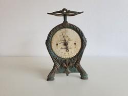 Vintage régi Bécsi óra mérleg osztrák szecessziós működő óramérleg