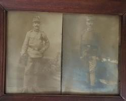 Régi katona képek keretben