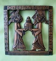 Bronz falikép, fali dísz, egyházi ereklye