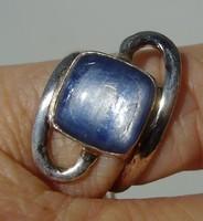 925 ezüst gyűrű, 17/53,4 mm kianittal