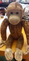 Közel 100 éves játék majom - magassága: 36 cm