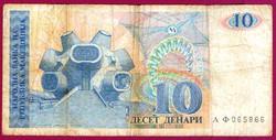 * Külföldi pénzek:  Macedónia  1993  10 dinár