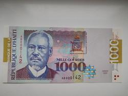 Haiti 1000 gourdes 2004 UNC A  legnagyobb címlet! Alacsony sorszám˘!