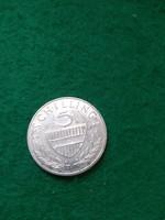 Ezüst  5 schilling  1961