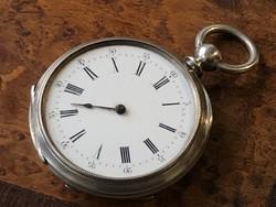 Kulcsos ezüst zsebóra 45 mm