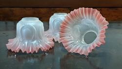 Szecessziós, üveg lámpabúra 4 db. csoda szépek, hibátlanok.Csillárhoz, asztali lámpára, falikarhoz.