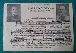 Kottás,nótás levelezőlap 1943