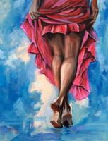 Felhőkön táncoló - akrilfestmény