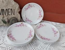 Alföldi porcelán 6 db  ritka 17 cm-es barackvirágos süteményes sütis tányérok  nosztalgia darabok