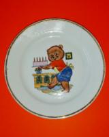 Zsolnay mesetányér ötödik születésnapra, hatvanas évek