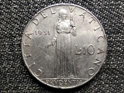 Vatikán XII. Pius Prudentia 10 líra Anno XIII 1951 (id42356)