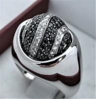 Hatalmas lehetőség gyémánt gyűrű 18k Fekete gyemantok