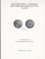Arany érmék - Svájc reneszánsz kori medál tallérjai - Adolf Hess árverési katalógus
