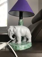 Vintage elefántos kerámia lámpa