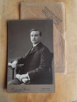 Hibátlan budapesti fotó T1/2!, 1910 Rozgonyi Dezső műterméből - fiatalember - saját tokkal