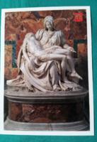 Michelangelo: Pieta -  Vallási képeslap,postatiszta