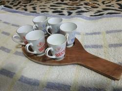 Porcelán röviditalos pohár szett