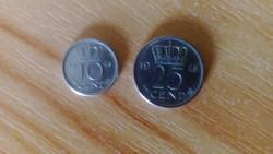 1948 Holland 10 és25 cent! Párban!