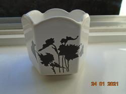 Egyedi forma és mintavilággal hatszögletes designer cukortartó fekete Keleties növénymintával