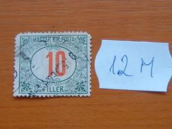 MAGYAR KIR. POSTA 10 FILLÉR 1915-1918 12M