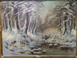 Téli erdőbelső