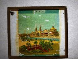 Antik dia. Üveglapra festett képek. 1870-1906 Vallási helyek 1db