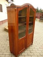 Gyönyörű, eredeti antik német biedermeier 5 polcos vitrin / könyves szekrény nagyon szép állapotban